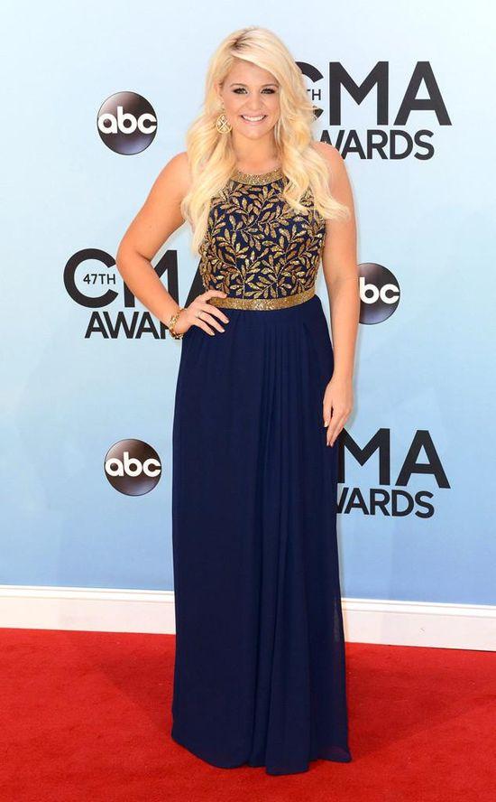 American Idol runner-up Lauren Alaina looks regal in her CMA Awards dress.