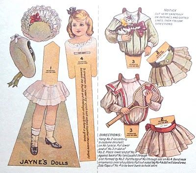 Precious Vintage Paper Doll Cut Out