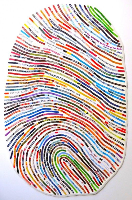 A literary thumbprint: the books that have defined your life fill out your thumbprint.