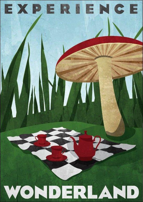 Wonderland Travel Poster
