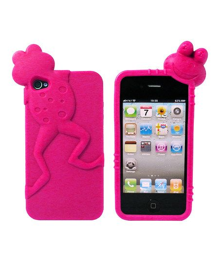Pink Leaping iPhone Case.