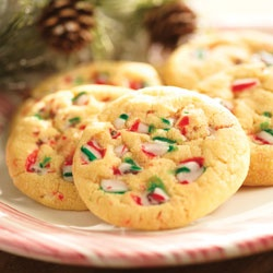 Peppermint Cookies Recipe - Allrecipes.com, will try with ready to make sugar cookie mix.