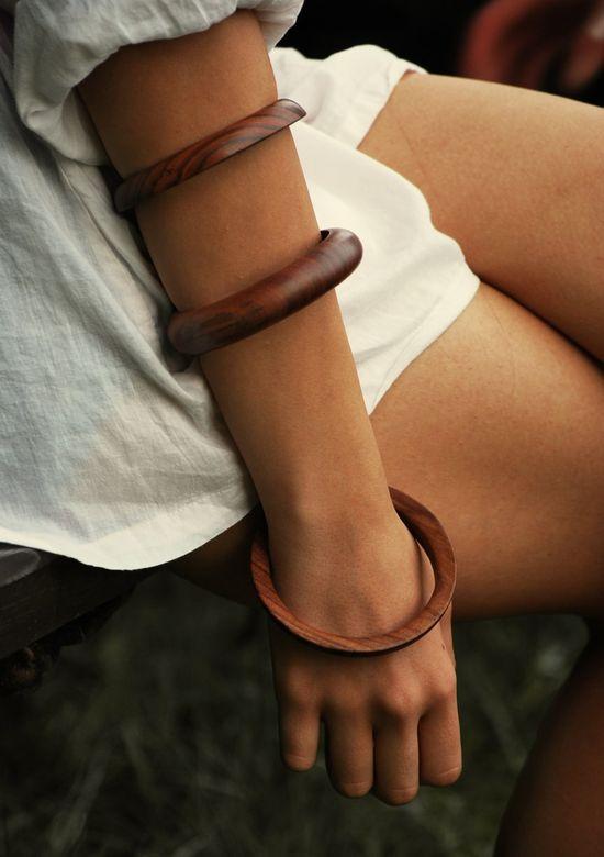 wooden bangles.