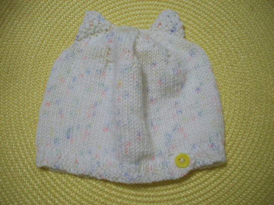 cute cat eared baby hat $8 by @Precious Bowtique!