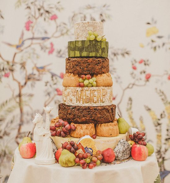 "food + drink | were fans of the cheese wedding ""cake"" 