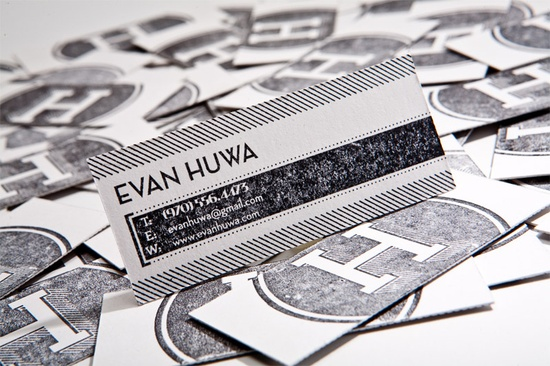 love the branding, but totally love the font his name is in. identity by Evan Huwa