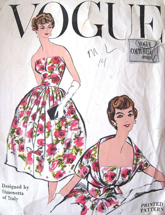Rare Pattern Vintage Vogue Couturier Design 101 by PatternGal, $150.00