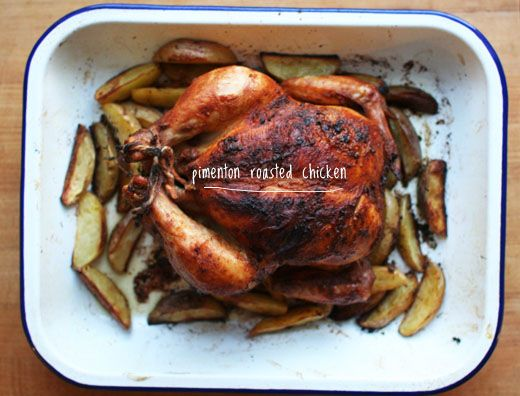 Paprika Roasted Chicken and Potatoes by lottieanddoof #Chicken #Paprika