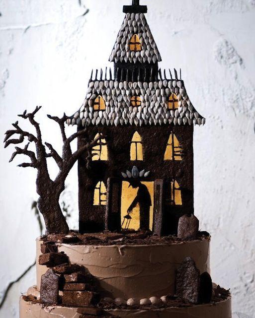 halloween haunted house cake recipe