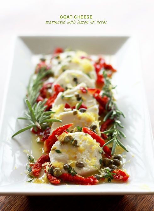 Goat Cheese Marinated with Herbs