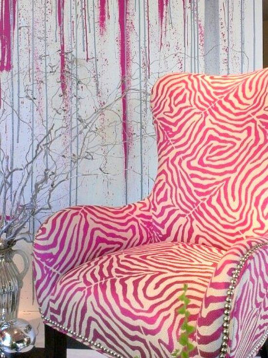 Animal print chair in hot pink!