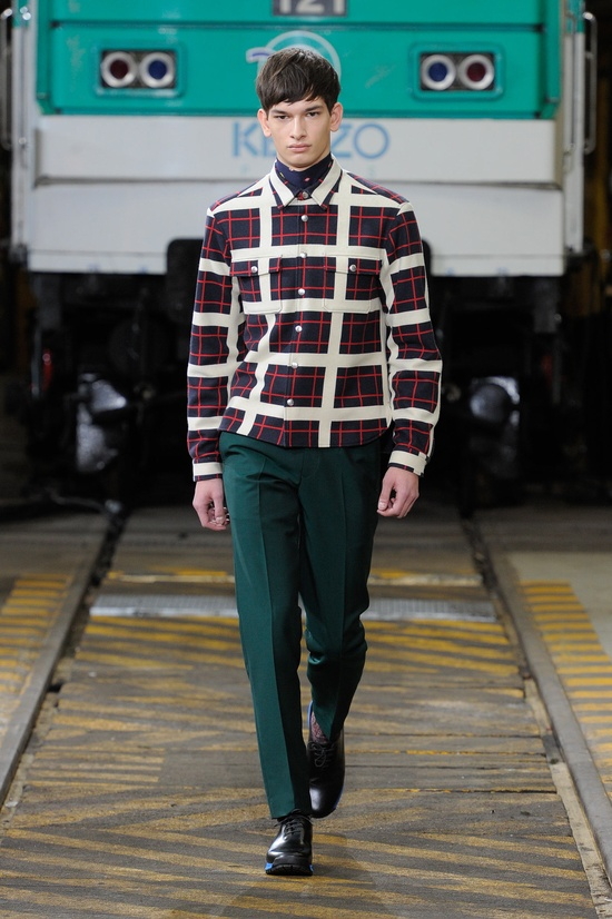 Yes please. Collections - KENZO Men Fall/Winter 2012 fashion show collection