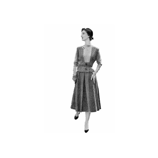 Womans Day 5061 1950s Dress Sewing Pattern 3 by retromonkeys, $9.00