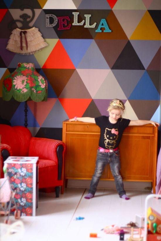 #kids #room triangle wallpaper minakani lab