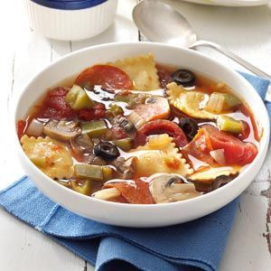 Pepperoni Pizza Soup Recipe Crockpot #better health naturally #healthy eating