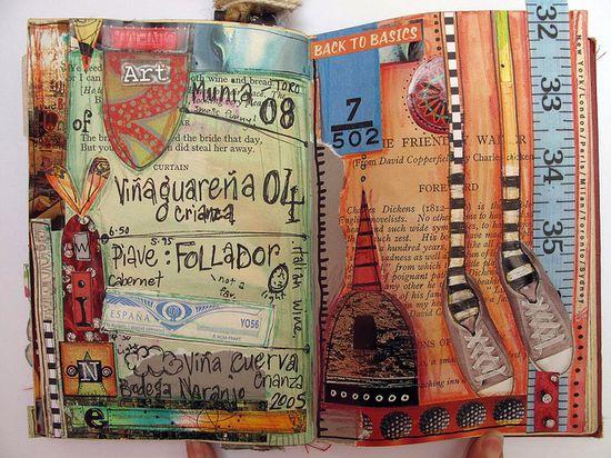 an art journal book