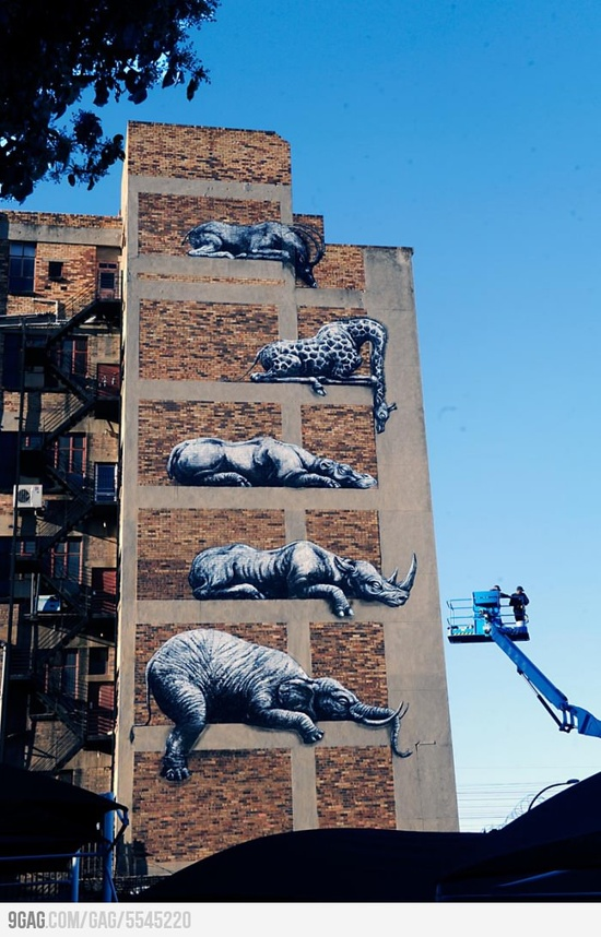 Awesome street art in Johannesburg, South Africa.