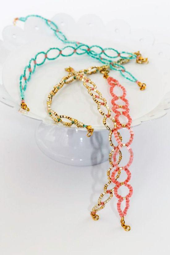 #diy seed bead bracelet
