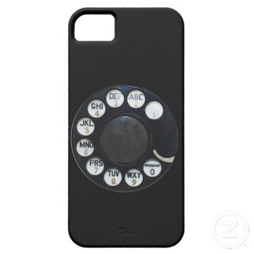 Black Rotary Phone iPhone 5 Cover