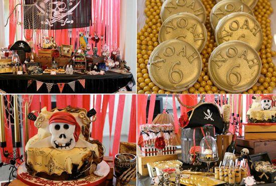 Pirates ahoy themed birthday party via Kara's Party Ideas karaspartyideas.com #pirate #birthday #party #ideas