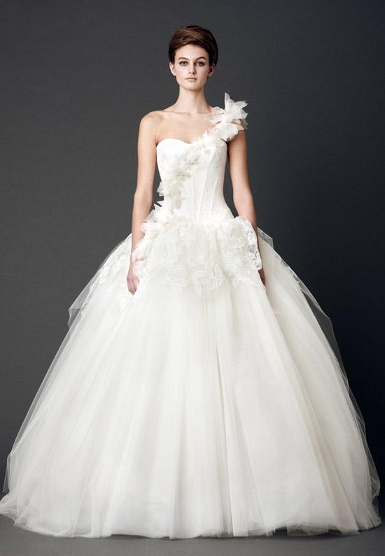 Vera Wang, Spring 2013 One Shoulder Bridal Gown