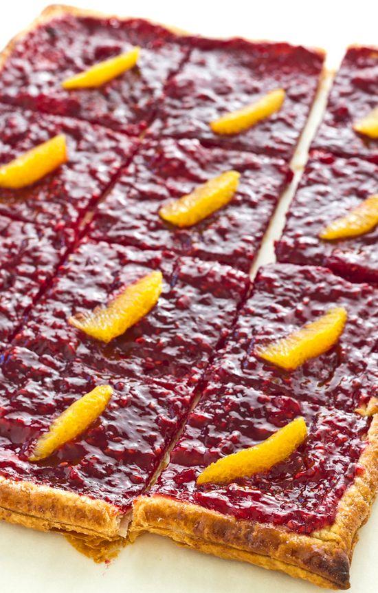 Crispy Raspberry-Orange Tart – Click for Recipe