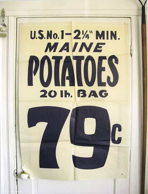 Vintage 1960's Grocery Store poster