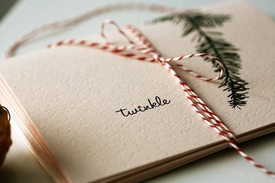 twinkle . holiday cards. $9.00, via Etsy.