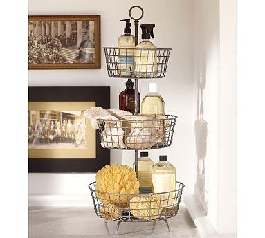 Tiered Bath Storage - Vintage Iron finish, Potterybarn
