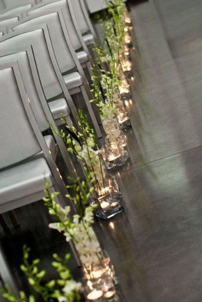 Great wedding aisle decoration