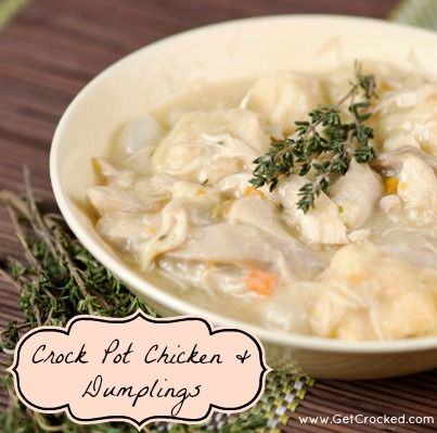Crock Pot Chicken & Dumplings! (easy)