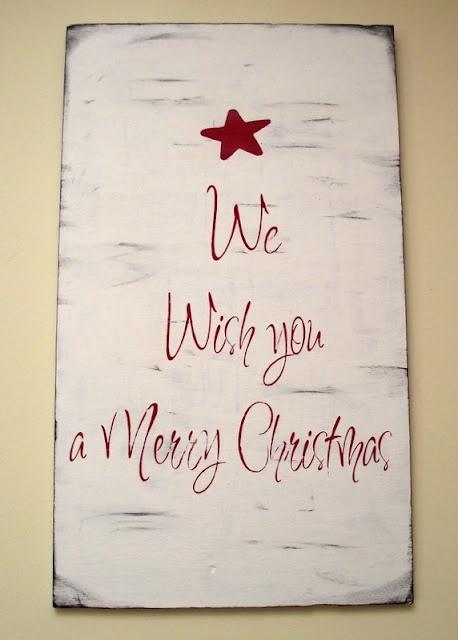Handpainted Christmas Sign - love!