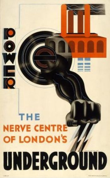 Vintage poster from the London Underground #vintage #travel #poster #England #UK