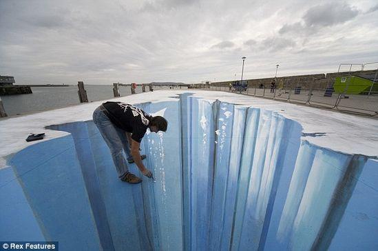 3D Pavement Art, So cool!