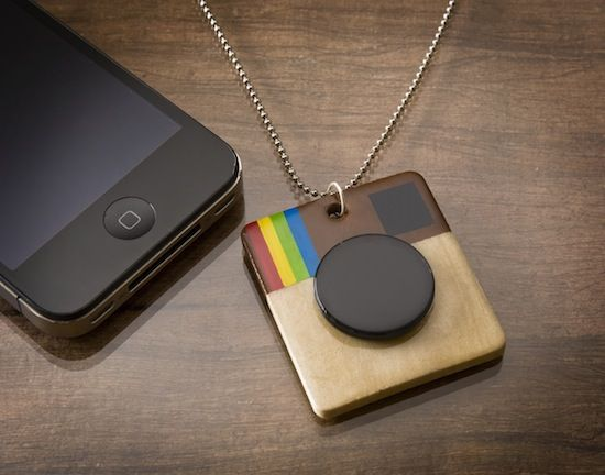 I made this DIY Instagram necklace to celebrate my favorite iPhone app. What is your favorite app and what does it do?