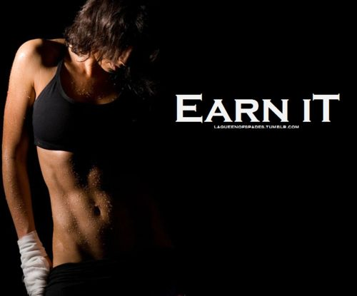 Earn it !!  #thinspiration #motivation #fitness #exercise #workout #healthy #health #abs #inspiration #motivate #fit