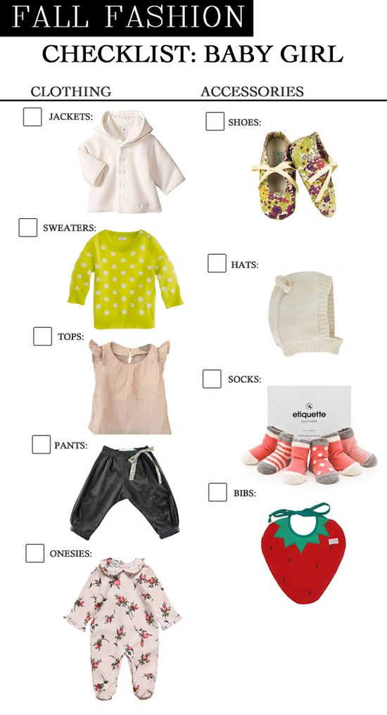 Fall Fashion Checklist for Baby Girl