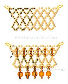 Free pattern for beaded necklace Santa Barbara U need: seed beads 11/0 round beads 6