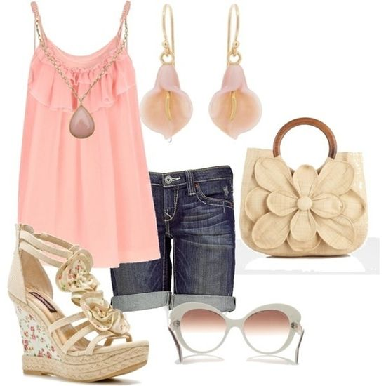summer outfit. Love the shoes