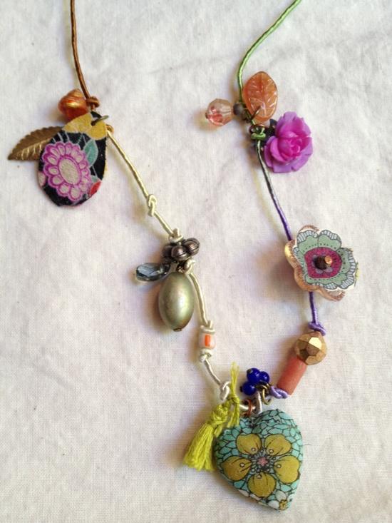 Handmade charm necklace. $50.00, via Etsy.
