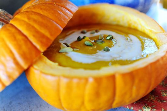 pumpkin soup by the pioneer woman.