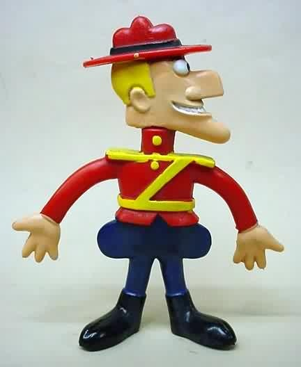 Dudley Do-Right.  Fun-Flex Bendee by Wham-O.