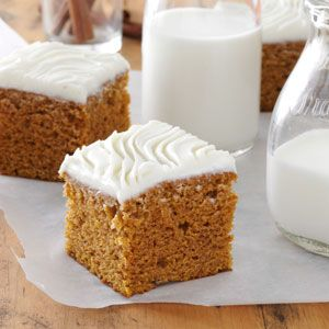 Harvest Pumpkin Brownies Recipe from Taste of Home