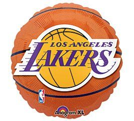Los Angeles Lakers Basketball - Foil Balloon Party Accessory - weheartlakers.com...