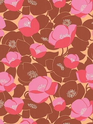 Graham & Brown Wallpaper Field Poppies by Amy Butler $85.00 per 11 yard roll #interiors #decor #floralwallpaper