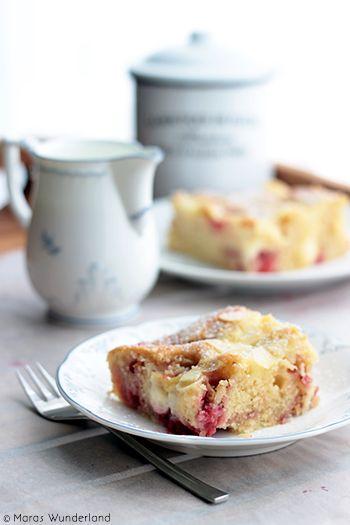 Strawberry Summer Custard Cake by maraswunderland #Cake #Strawberry #Custard