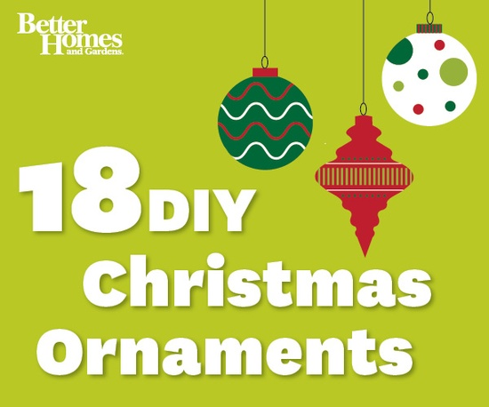 Use clever embellishments to create beautiful #Christmas ornaments! More ornament ideas: www.bhg.com/...