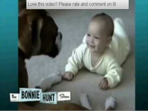 Cute Dog and Baby Video -- AWWW