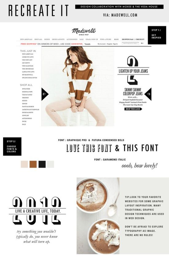 Font and design