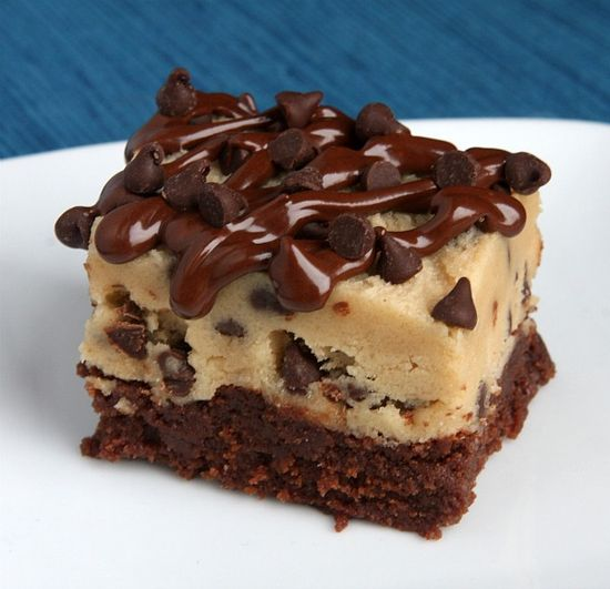 Chocolate chip cookie dough brownies!